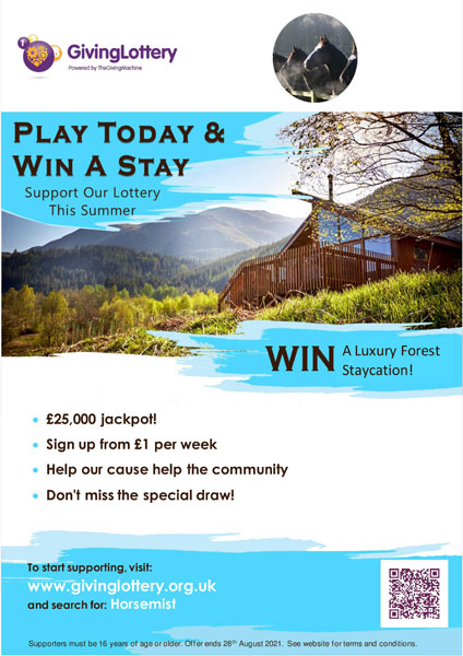 Easily contact us staycation lottery poster